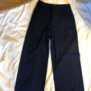 Club Monaco Wide Leg Wool Pants - navy size 0
